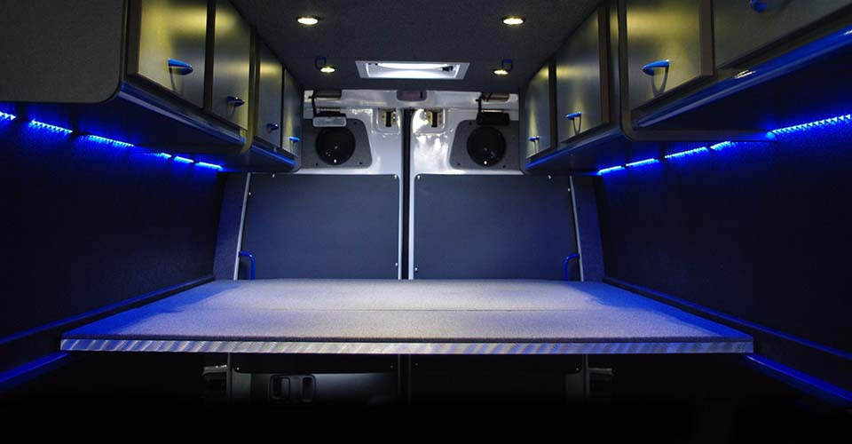 We Specialize In Creating Amazing Custom Sprinter Van Interiors That Fit Your Needs Some Of Our Common Customizations Include