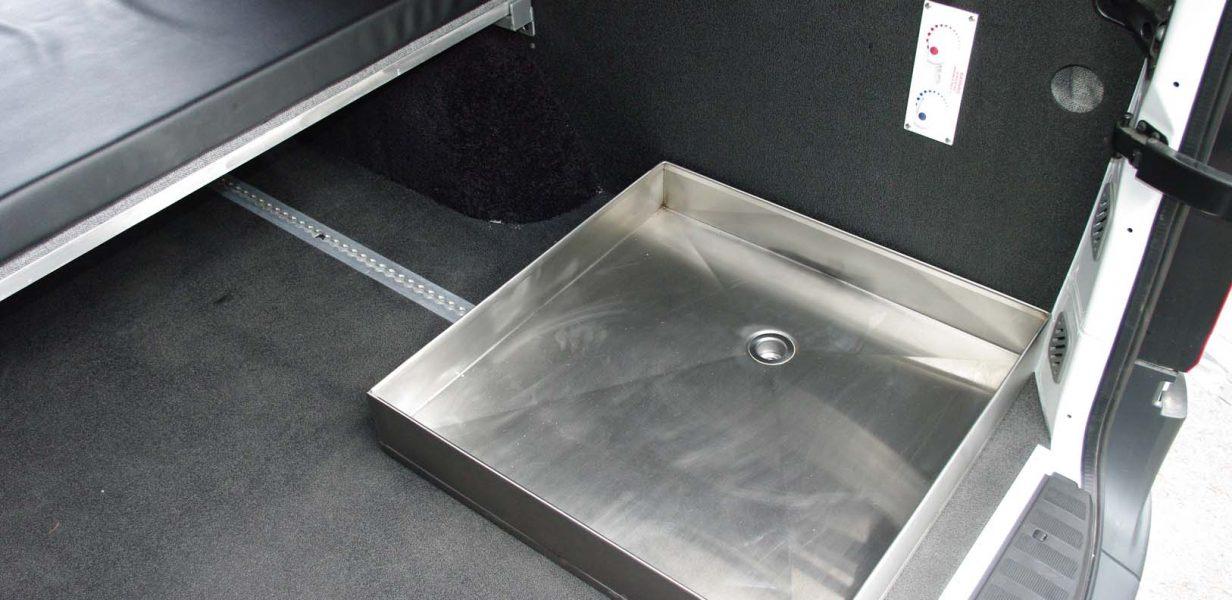 Stainless Steel Rv Shower Pan.Removable Shower Pan Van Specialties